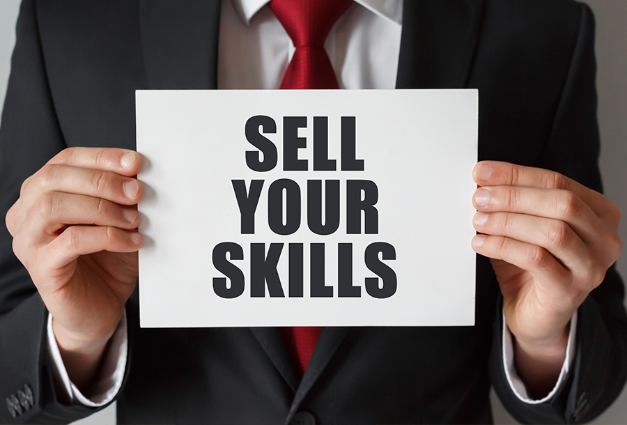 sell yourself without just becoming a slimy salesperson